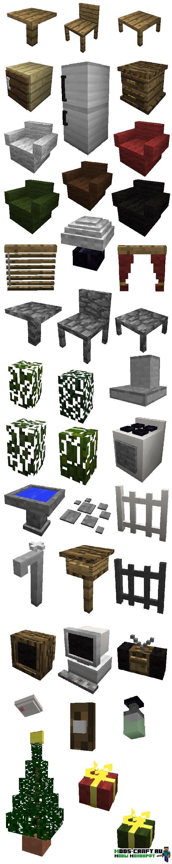 Мод на мебель для майнкрафт 1.12.2 - 1.5.2