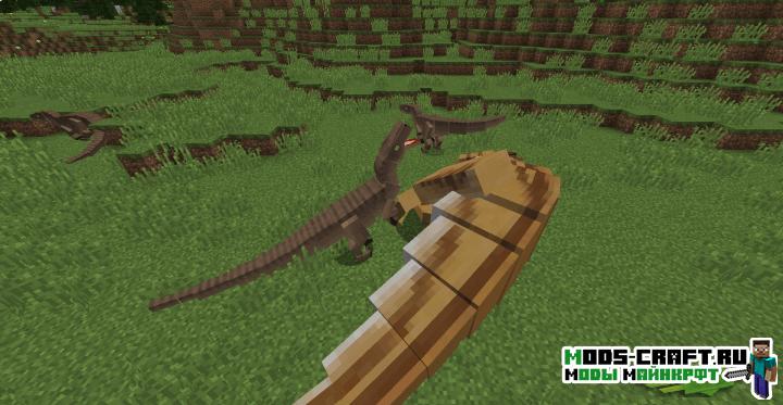 Мод на Динозавров - JurassiCraft для minecraft 1.12.2 1.11.2 1.10.2 1.9.4 1.8.9 1.7.10