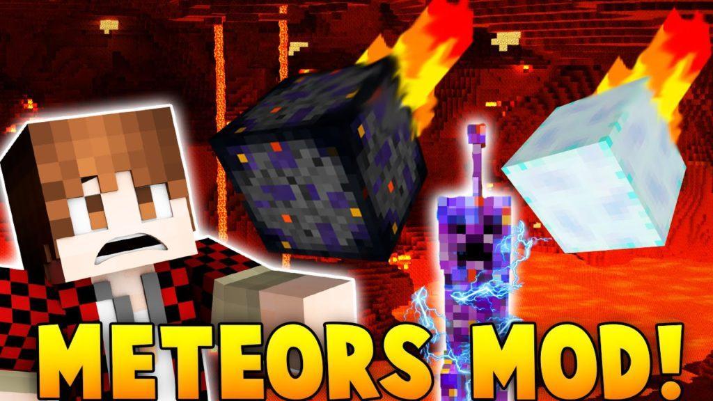 Мод на Метеориты - Falling Meteors для minecraft 1.7.10 1.7.2 1.6.4 1.5.2