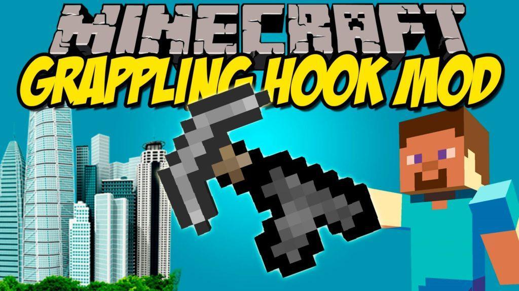 Мод Grappling Hook для minecraft 1.12.2 1.11.2 1.10.2 1.9.4 1.8.9 1.8 1.7.10
