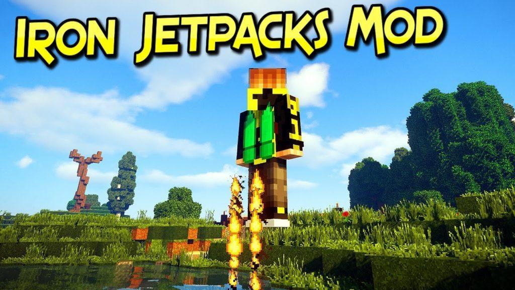 Мод на летающие ранцы - Iron Jetpacks для minecraft 1.12.2