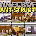 Мод на готовые Дома – Instant Structures для minecraft 1.12.2/1.11.2/1.10.2/1.9/1.8/1.7.10