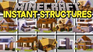 Мод на готовые Дома - Instant Structures для minecraft 1.12.2/1.11.2/1.10.2/1.9/1.8/1.7.10