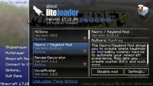 LiteLoader для minecraft 1.12.2/1.11.2