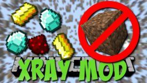 Мод XRay для minecraft 1.14.4, 1.12.2, 1.7.10
