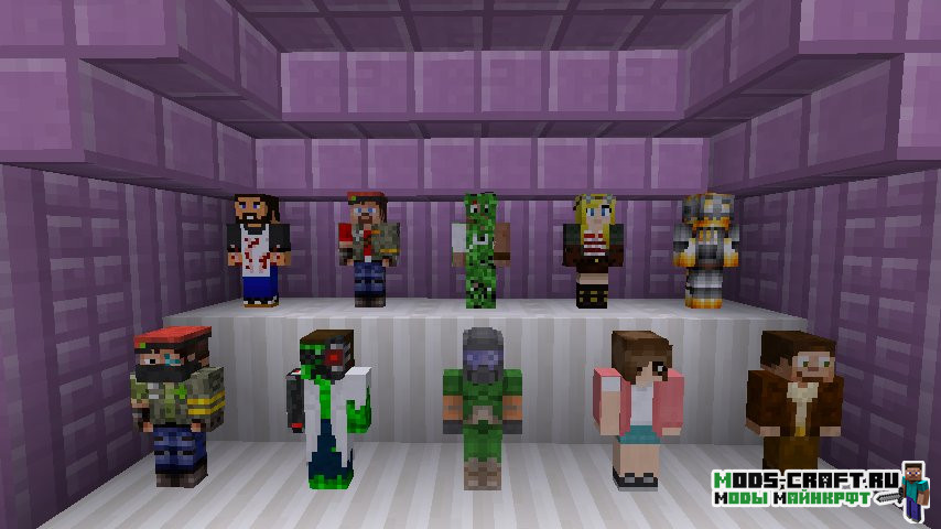 Мод Statues для minecraft 1.14.4, 1.12.2, 1.7.10