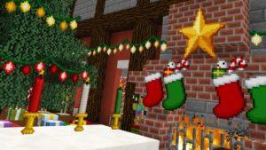 Мод Christmas Festivity 1.14.4, 1.12.2 (новогодние украшения)
