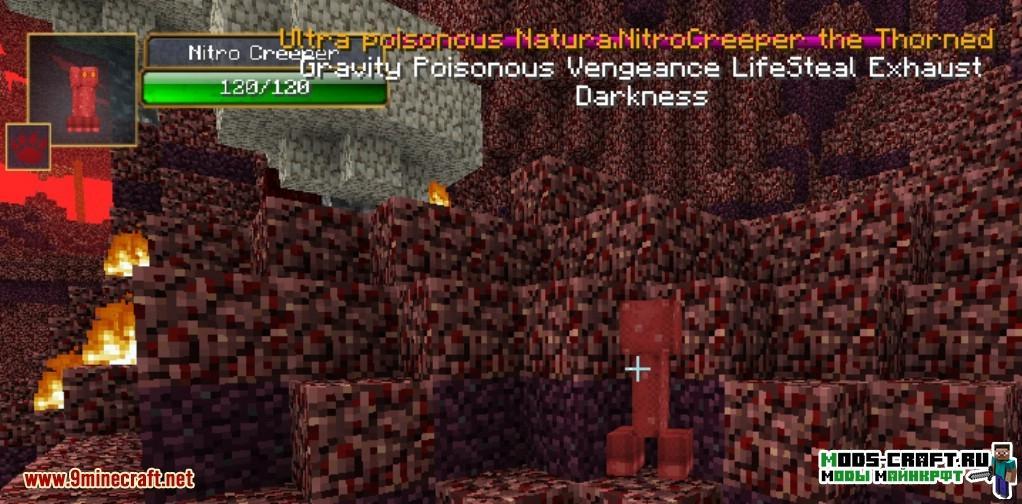 Мод на Новых мобов - Infernal Mobs для minecraft 1.12.2 1.11.2 1.10.2 1.9.4 1.8 1.7.10 1.6.4 1.5.2