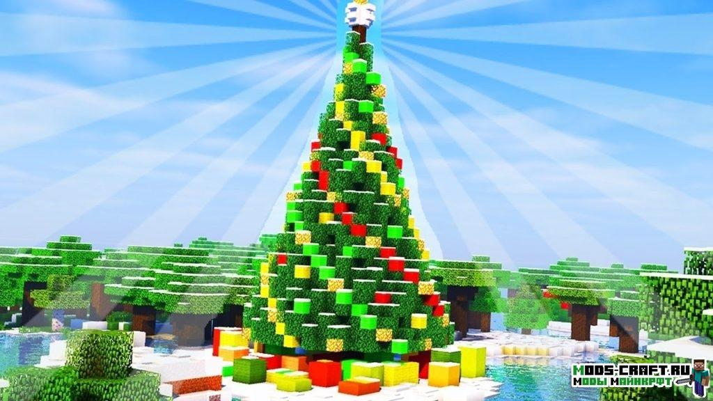 Decoratable Christmas Trees мод для minecraft 1.12.2 1.10.2 1.7.10