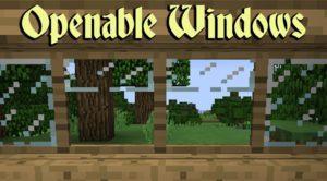 Мод Openable Windows для minecraft 1.12.2