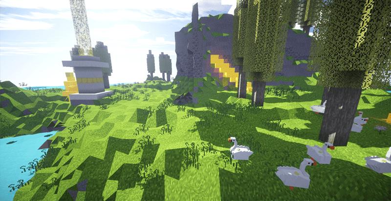 Мод на новое измерение - The Elysium для minecraft 1.7.10 1.7.2