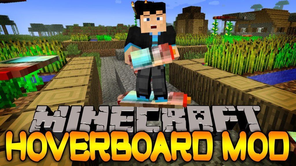 Мод на Воздушный сноуборд - Yrsegal's Hoverboard для minecraft 1.12.2