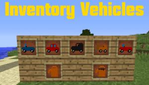 Мод на микромашинки - Inventory Vehicles для minecraft 1.12.2