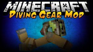 Мод на подводный костюм - Simple Diving Gear для minecraft 1.16.1, 1.15.2, 1.14.4, 1.12.2