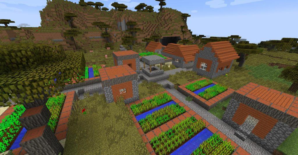 Деревни в каждом биоме - мод Mo' Villages для minecraft 1.12.2 1.11 1.10.2 1.9.4 1.8.9 1.7.10