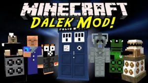 Доктор кто в майнкрафт - Dalek мод для minecraft 1.12.2 1.7.10