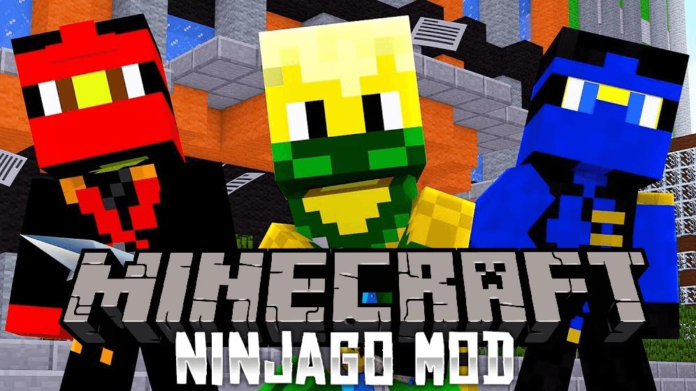 Стань Нинздя - мод Ninjago для minecraft 1.12.2