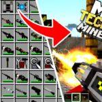 Много оружия в майнкрафт — мод Techguns для minecraft 1.12.2 1.7.10