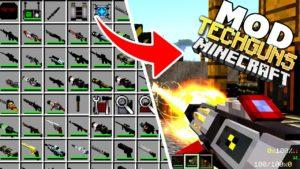 Много оружия в майнкрафт - мод Techguns для minecraft 1.12.2 1.7.10