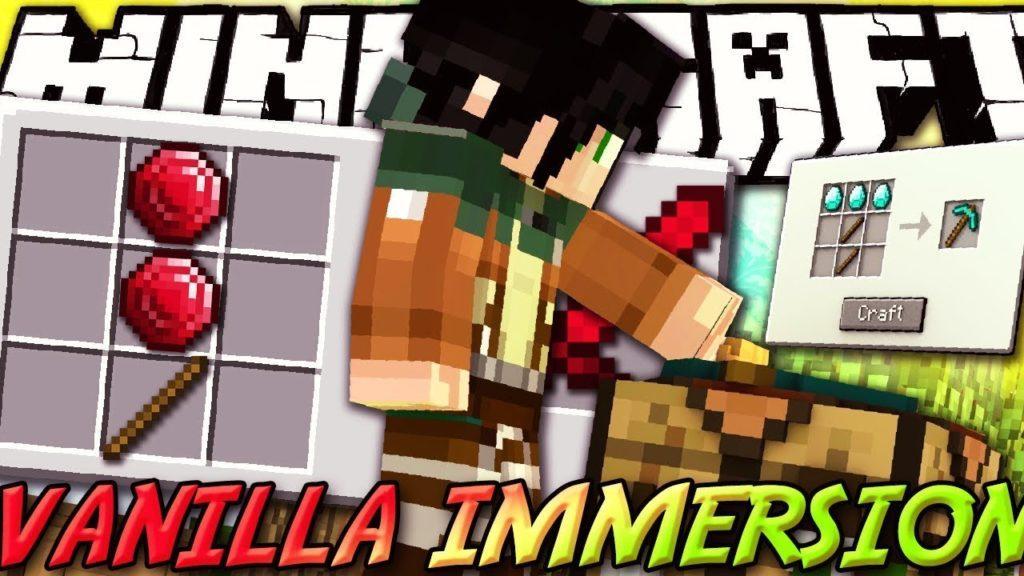 Мод Vanilla Immersion для minecraft 1.12.2 1.10.2 1.9.4