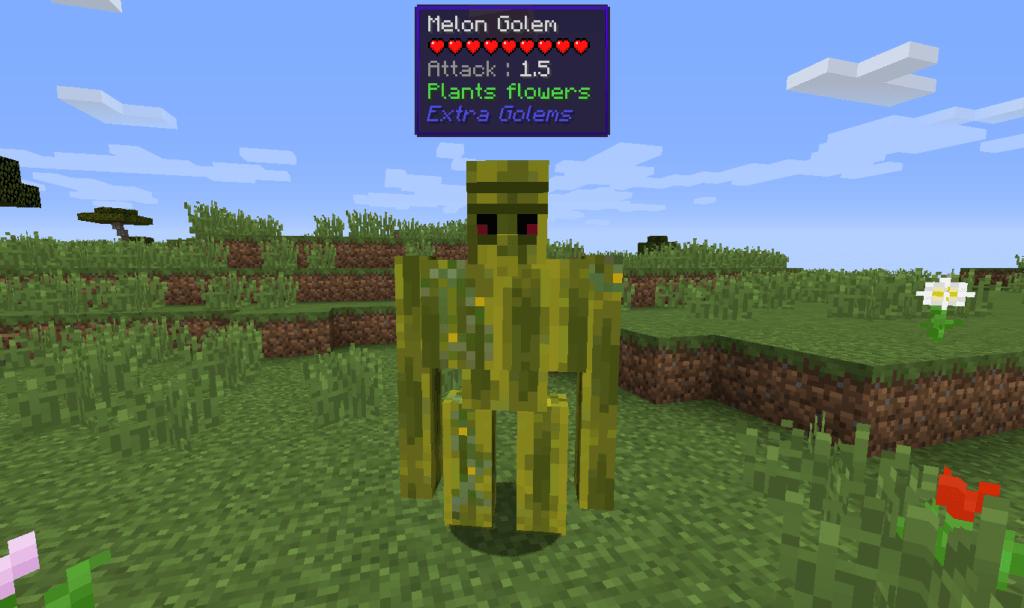 Мод на Новых големов - Extra Golems для minecraft 1.12.2 1.10.2 1.9.4 1.8.9 1.8 1.7.10