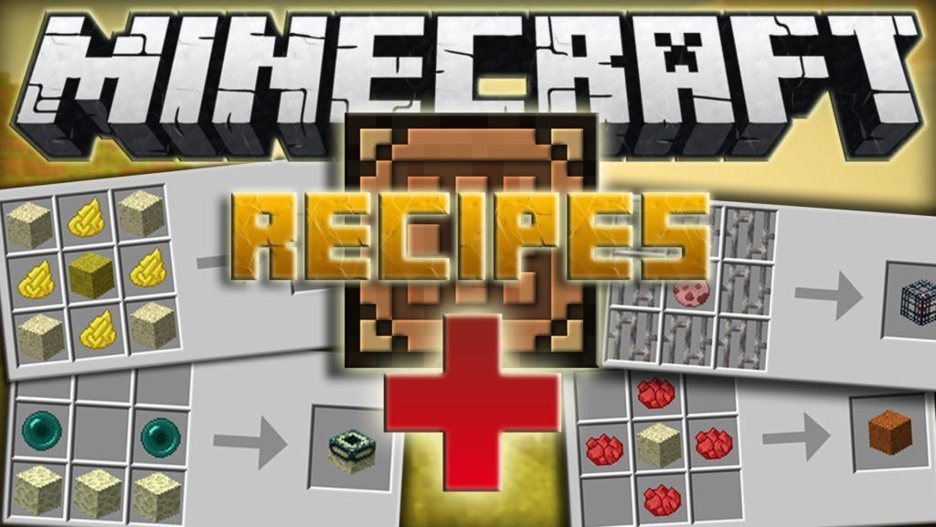 Мод на Новые рецепты - Recipes Plus для minecraft 1.7.10
