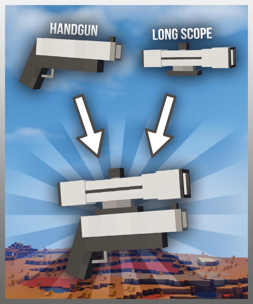 Базука и ракетница в майнкрафт - Working Gun для minecraft 1.12.2