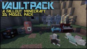 VAULTPACK - 3D текстуры из Fallout [16x] для minecraft 1.13.1 1.13 1.12.2 1.12