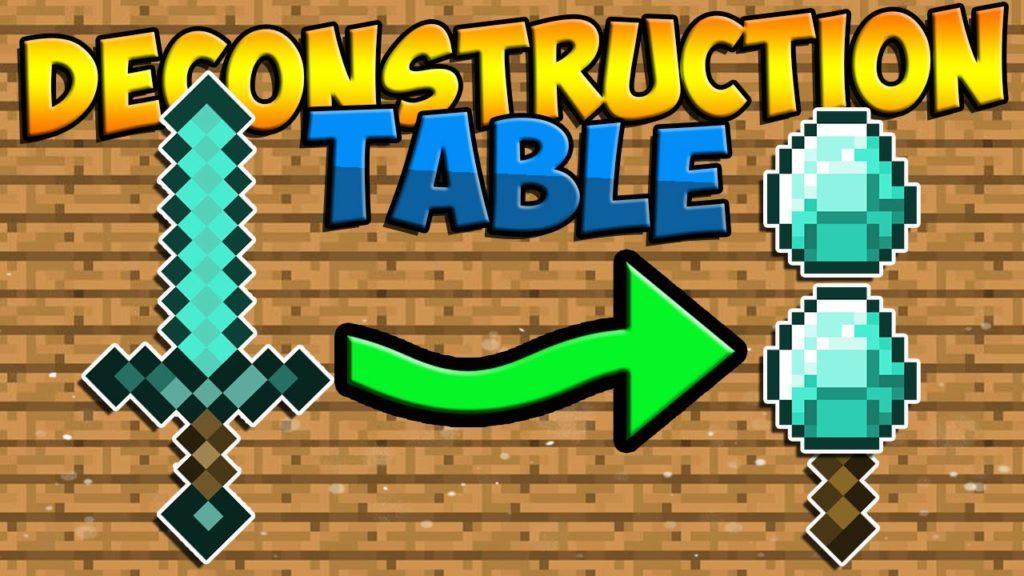 Мод Deconstruction Table для minecraft 1.12.2 1.10.2