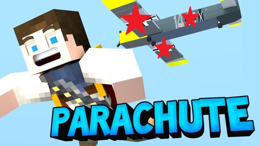 Мод на парашют - Parachute для minecraft 1.14.4, 1.12.2, 1.7.10