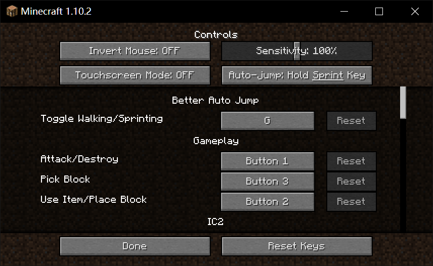 Мод на автопрыжок - Better Auto Jump для minecraft 1.12.2 1.11.2 1.10.2
