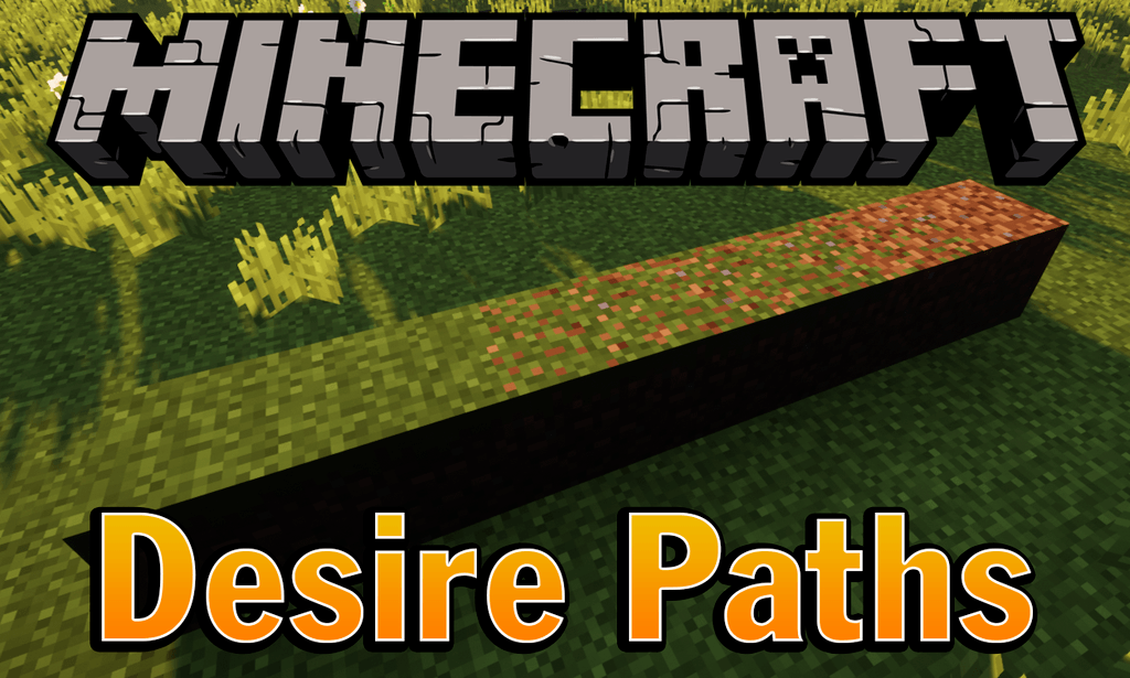 Мод на тропинки - desire paths для minecraft 1.12.2