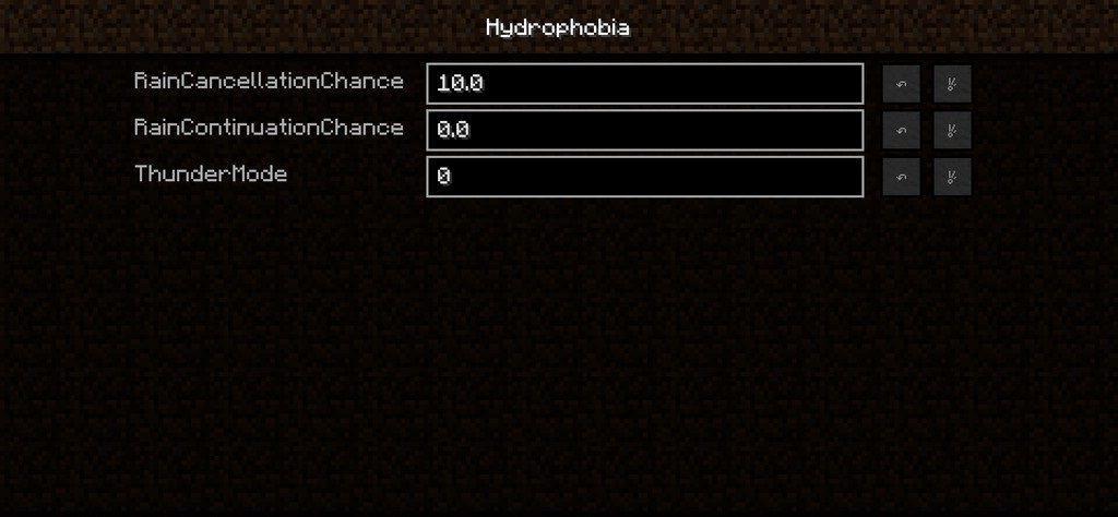 Мод Hydrophobia для minecraft 1.12.2 1.11.2 1.10.2