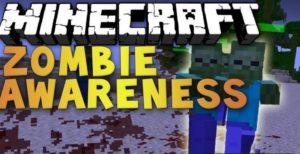 Умные зомби - мод Zombie Awareness для minecraft 1.12.2, 1.7.10