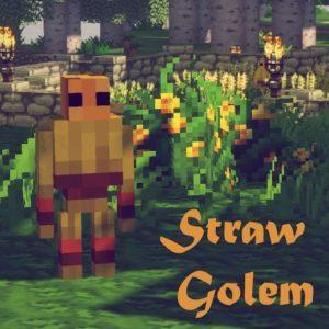 Голем фермер - Straw Golem для minecraft 1.12.2