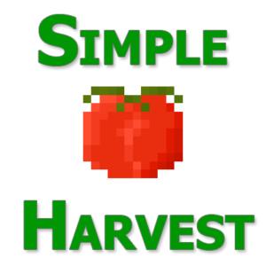Автосбор урожая - мод SimpleHarvest для майнкрафт 1.13.2 1.12.2 1.11.2 1.10.2 1.9.4 1.8 1.7.10