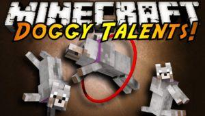 Мод на прокачку питомца - Doggy Talents для minecraft 1.13.2 1.12.2 1.11.2 1.10.2 1.9.4 1.8.9 1.7.10 1.6.4 1.5.2