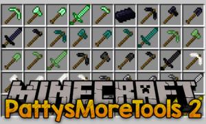 Мод PattysMoreTools 2 для minecraft 1.14.3, 1.12.2, 1.8.9