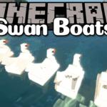 Мод на лодку - Swan Boats для майнкрафт 1.12.2