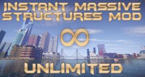 Мод на постройки в один клик - Instant Massive Structures для майнкрафт 1.12.2 - 1.5.2