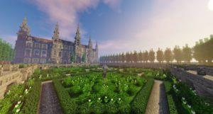 Карта Французский дворец - French Castle with garden для майнкрафт 1.13.2