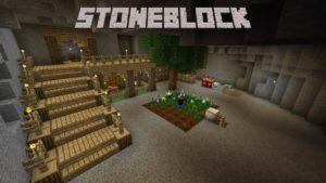 Сборка StoneBlock - выживание внутри камня майнкрафт 1.12.2