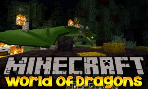 Мир драконов - мод World of Dragons для minecraft 1.12.2