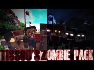 Текстуры зомбиапокалипсиса - Tissou's Zombie для minecraft 1.13.2 1.12.2