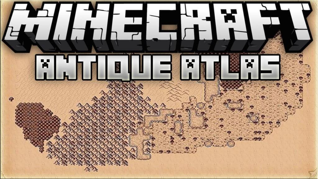 Мод Antique Atlas для майнкрафт 1.14.4, 1.12.2, 1.7.10
