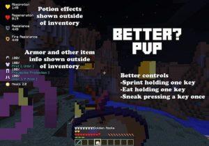 Мод Better PvP для майнкрафт 1.15.2, 1.14.4, 1.12.2, 1.7.10
