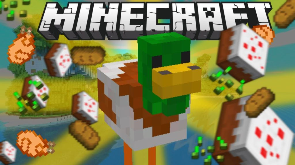 Мод на моба Ducky для minecraft 1.13.2 1.12.2 1.11.2