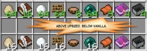 Мод на стаки для всех предметов Upsizer для minecraft 1.14.2, 1.12.2, 1.11.2, 1.8.9