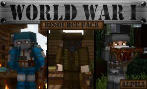 Ресурспак World War I для minecraft 1.14.4, 1.13.2, 1.12.2