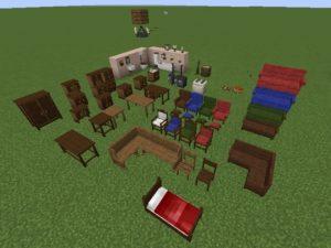 Мод Landlust Furniture для minecraft 1.12.2, 1.10.2